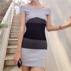 Casey #Sexy #Bandage #Dress- Black