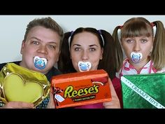 BАD BABY МАМА в ШОКОЛАДЕ! LOTS OF CANDY CHALLENGE CHOCOLATE FACE - YouTube