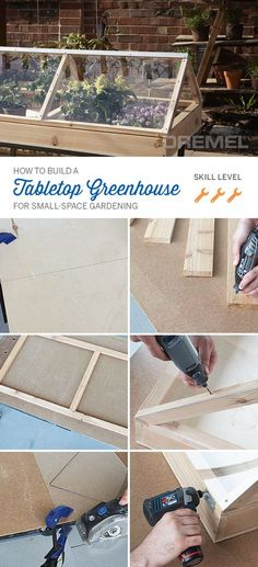 You don't need a big lot to have a greenhouse. This mini DIY greenhouse project from #Dremel is perfect for small-space gardening.