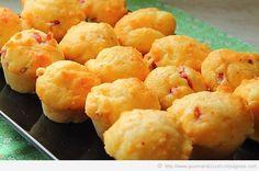 muffin parmesan lardons