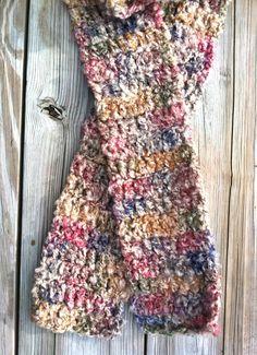Crochet scarf by BringingSunshine on Etsy, $8.00