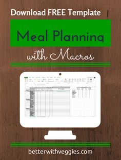 excel templates with macros - 1000 images about meal planning with macros on pinterest