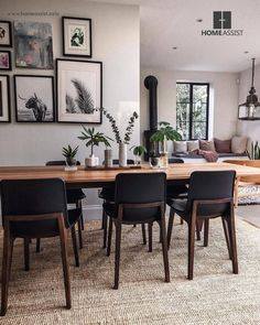 open plan kitchen diner with seating area. - open plan kitchen diner with seating area. Dining Room Design, Interior Design Living Room, Dining Area, Living Room Decor, Dining Chairs, Dining Rooms, Dining Room With Rug, Design Interiors, Small Dining