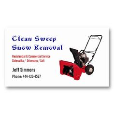 22 best snow removal business cards images on pinterest business snow removal snow blower business card colourmoves