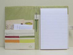 Personal Organizer/Planner Handprinted Eco Friendly Fabric