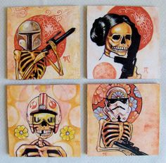 Star Wars meets day of the dead.  What just happened to me??