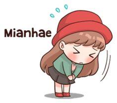 Korean Language 751538256538918442 - Stickers for K POP I-fans Source by Pop Stickers, Kawaii Stickers, Funny Stickers, Anime Korea, Korean Anime, Korean Phrases, Korean Words, Anime Chibi, Kawaii Anime