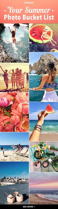 Get ready for Summer with this photo bucket list! Work your way through these summer photo ideas as you collect your summer memories.