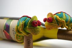 Grumpy Chameleons | Flickr - Photo Sharing! Melissa Terlizzi polymer clay