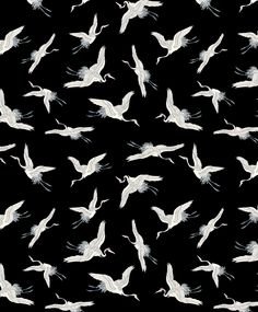 ★ We heart this monochrome crane print.