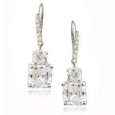 Journee Collection Sterling Cubic Zirconia Dangle Earrings