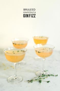 Bruleed Grapefruit & Gin Fizz Read More: http://www.stylemepretty.com/living/2014/11/11/bruleed-grapefruit-gin-fizz/