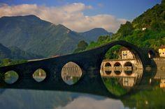 Ponte Della Maddalena - Borgo A Mozzano, Italia