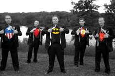 Groomsmen Superheroes but only marvel or dc no combining of the universes