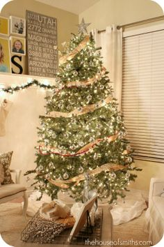 Love this tree. Love this blog post for Christmas ideas.