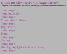 because I learned the hard way that jump rope workouts really do kick your butt!