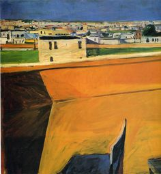 Richard Diebenkorn April 1922 – March was a American painter. His early work is associated with Abstract expressionism and the Bay Area Figurative Movement of the and Contemporary Landscape, Urban Landscape, Contemporary Paintings, Landscape Art, Richard Diebenkorn, Wayne Thiebaud, Helen Frankenthaler, Joan Mitchell, Jasper Johns