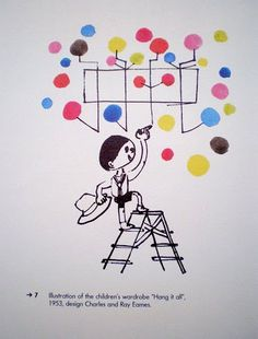 Charles and Ray Eames Hang it all illustration ✭ mid century kids design ✭ vintage furniture