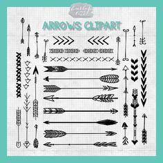 VECTOR Hand Drawn clipart arrows arrows clipart by 1burlapandlace, $4.99
