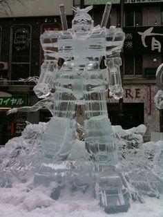 Gundam, made of ice.