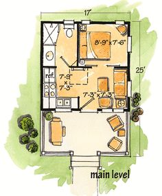 Plan W11537KN: Cottage, Narrow Lot, Log, Mountain, Vacation, Country House Plans & Home Designs