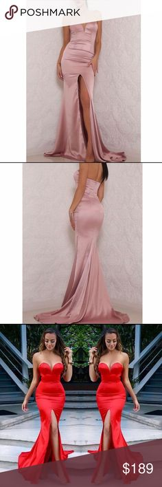 Abyss by Abby Milan gown Dusty rose sweetheart gown. abyss by abby  Dresses Prom