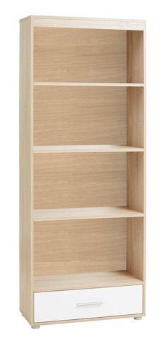Bibliotecă SLAGELSE 4 rafturi stejar/alb | JYSK