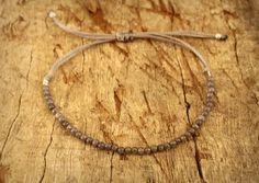 Jade bracelet, Jade jewelry, Gemstone bracelet, Gray bracelet, Unisex bracelet, Bracelet for him, Bracelet for her, Adjustable Bracelet by Amoreecolore on Etsy