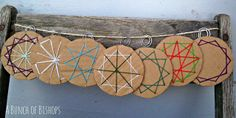 A Bunch of Bishops: Woven Cardboard Ornaments