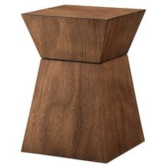"""Threshold Wood Hourglass Accent Table - Mid Brown 19.0 """" H x 13.0 """" W x 13.0 """" D  $59.99"""