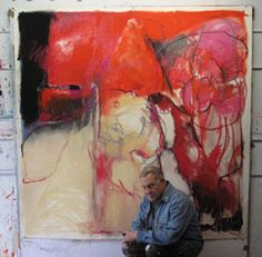 An abstract artist who seems to have fun with his work each day!  Robert Burridge is talented too.