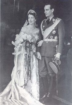 The Meander tiara was passed down to Cecilie and Wilhelm's second son,  Louis Ferdinand, and worn by his bride,  Grand Duchess Kyra Kirilovna of Russia, when the couple married in 1938