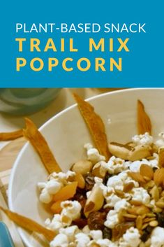 Learn how to make a quick and easy trail mix popcorn that's also plant-based! What You Eat, Eat Healthy, Popcorn, Plant Based, Healthy Lifestyle, Trail, Diet, Snacks, Easy