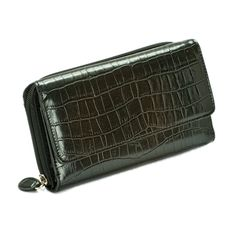 Mundi Big Fat Flap Wallet Croco Embossed (Black). Beautiful Mundi Organizer wallet with spacious design. Multiple card slots and zippered compartments. This will keep all your belongings neat and organized!.
