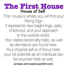 Astrology: 1st (First) House (House of Self) | #Astrology #1stHouse #FirstHouse