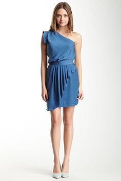 One Shoulder Ruffle Dress by BCBGeneration on @HauteLook