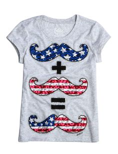 Mustache Math Graphic Tee | Bffs And Faves | Graphic Tees | Shop Justice