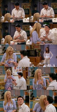 When Joey thinks Phoebe is pregnant instead of Rachel, he proposes to her so she doesn't have to be a single mom.