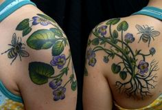 violet tattoo by #VirginiaElwood in NY