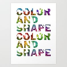 Color and shape Art Print by eliasklingen - $20.48  #illustration #poster #handmade #craft #sketch #doodling #doodle #wall #home #graphic #design #interior #painting #style  #wild #fancy #wallpaper #typography #graphic #design