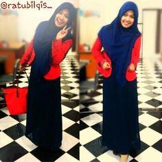 True Hijab | Syar'i | Siapa bilang ngantor ga bisa syar'i? ~ @ratusaskia