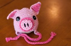 CROCHET PATTERN  Piggy Hat by sweetdecemberhats on Etsy, $3.50
