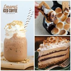 recipes for smores - smores iced coffee smores dip smores fudge cake