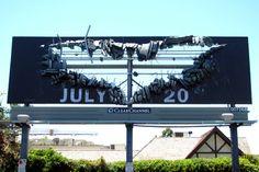 Batman was here. billboard for The Dark Knight Rises. Pushing Boundaries, The Dark Knight Rises, Warner Bros, Billboard, The Darkest, Batman, Poster Wall