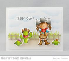 Handmade card from Barbara Anders featuring Grassy Edges Stencil #mftstamps