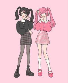 Adrette Outfits, Anime Outfits, Arte Do Kawaii, Kawaii Art, Cute Art Styles, Cartoon Art Styles, Kawaii Drawings, Cute Drawings, Fashion Design Drawings