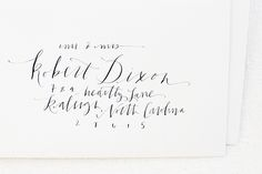 Oh So Beautiful Paper: Calligraphy Inspiration: Meagan Tidwell Design