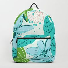Buy light blue flowers Backpack by pattern-love. Worldwide shipping available at Society6.com. Just one of millions of high quality products available. Fashion Bags, Fashion Backpack, Light Blue Flowers, D Craft, Designer Backpacks, My Fb, Purse Wallet, Purses And Bags, Unisex