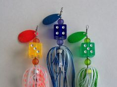 Groomsman Bestman Gift 3pk Dice Fishing Lures by Luregasmic, $21.00