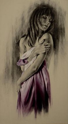 //Ghosts No. III | Charcoal & Pastel on Paper | 110 x 73 cm (paper size) | SOLD #art #painting #woman